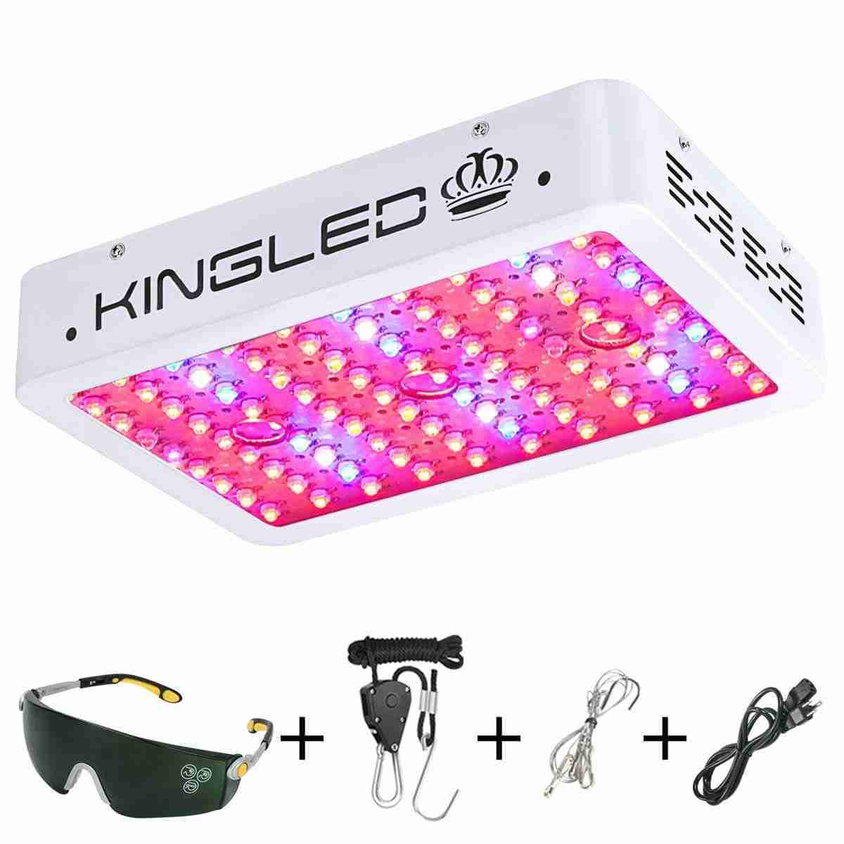 King Plus 1000w LED Grow Light Double Chips Full Spectrum with UV