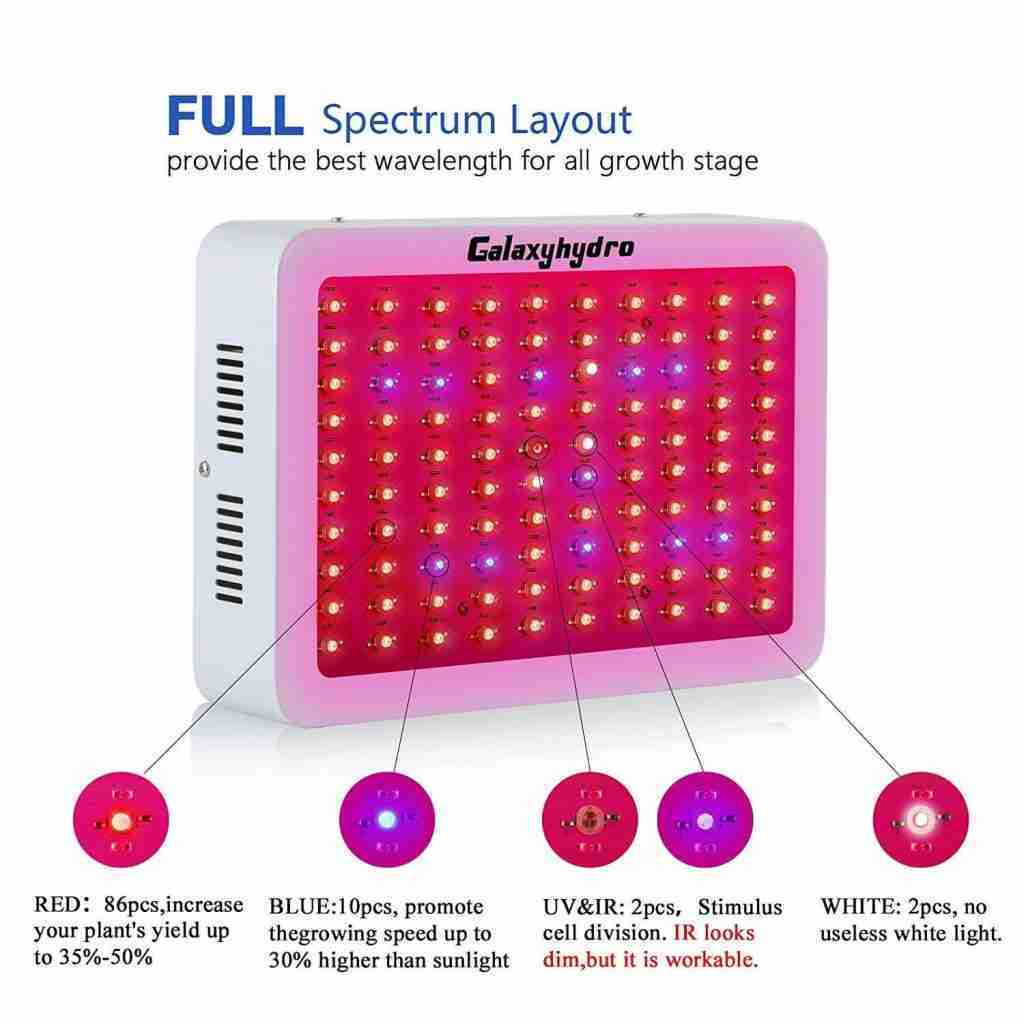 Roleadro Galaxyhydro 1000W LED Grow Light Review – Gardening