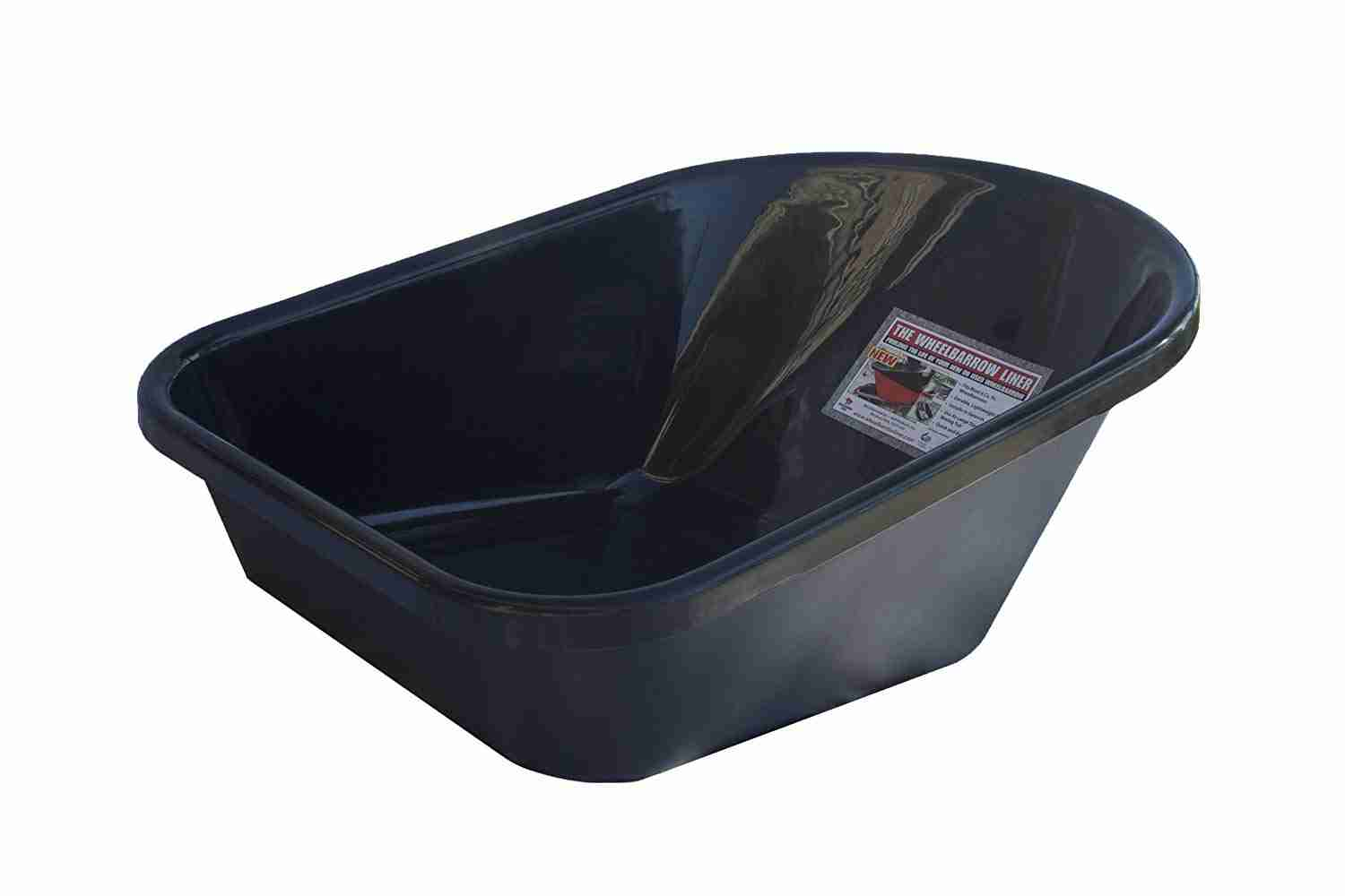 Wheelbarrow Liner for 6 Cubic Feet Wheelbarrows, Black Recycled Poly