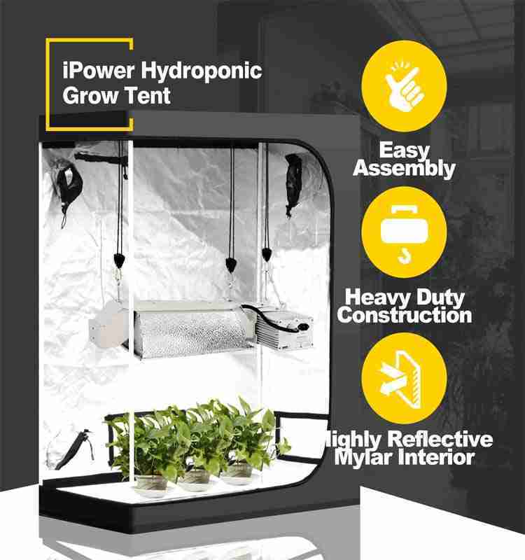 iPower Grow Tent Easy Assembly