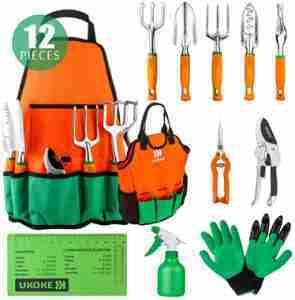 UKOKE 12 Piece Garden Tool Set