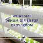 grow room dehumidifier size