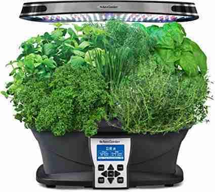AeroGarden Black Ultra LED with Gourmet Herb Seed Pod Kit