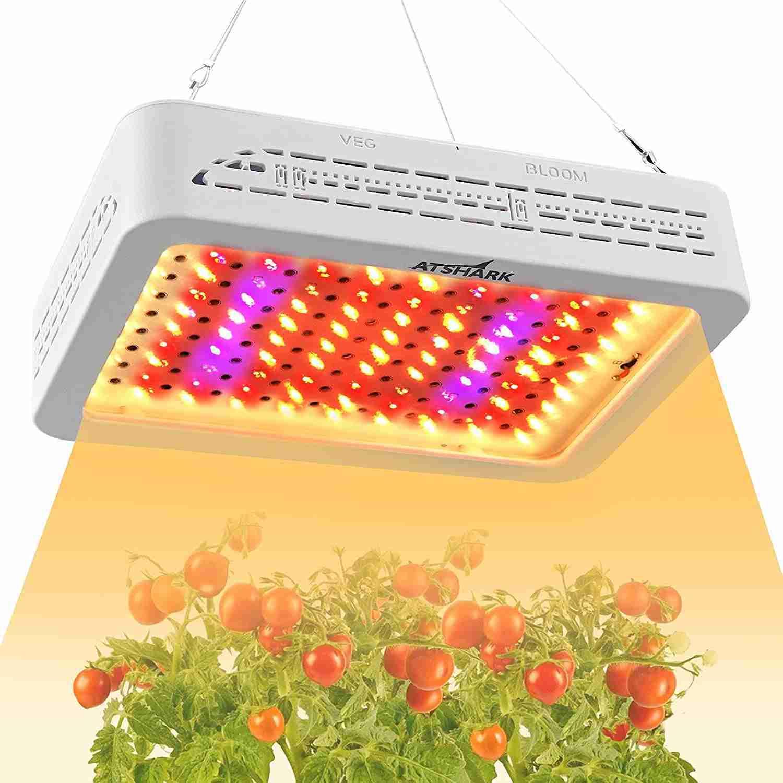 atshark 1000w led grow lights isolated on white background