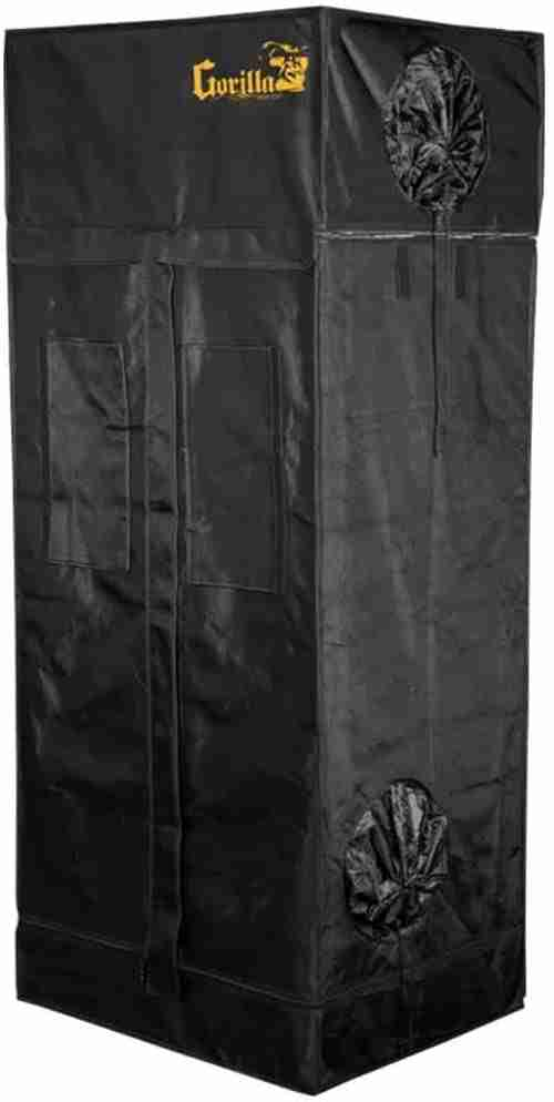 gorilla grow tent ggt22, black color, isolated on white background