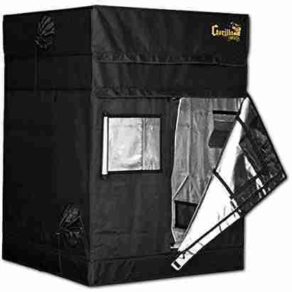 gorilla grow tent shorty ggts4x4 isolated on white background