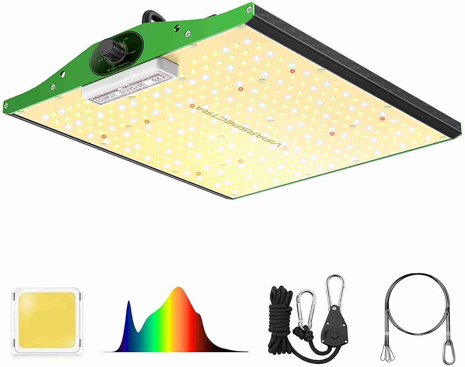 viparspectra p1000 led grow light isolated on white background