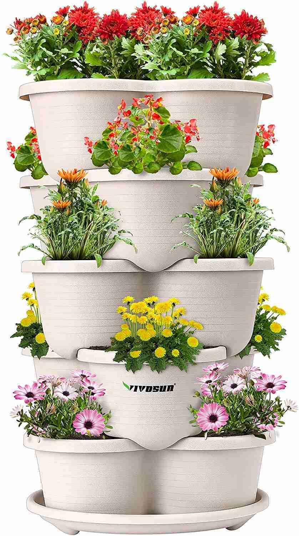 vivosun 5 tier vertical gardening stackable planter