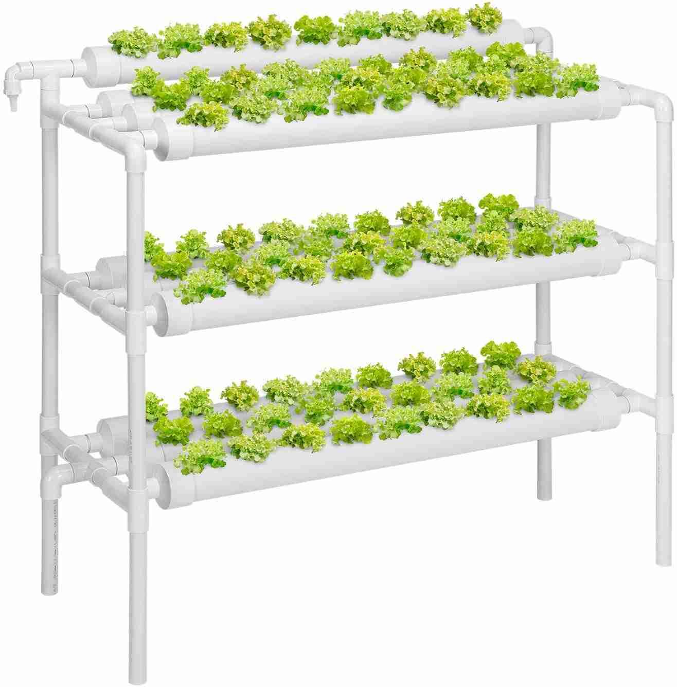 vivosun hydroponic grow kit isolated on white background